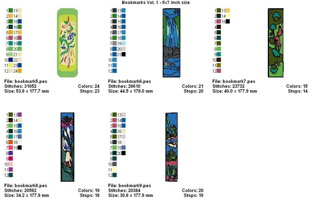 BOOKMARK DESIGN EMBROIDERY MACHINE
