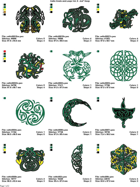Celtic Knots And Loops Vol 5 4x4quot Hoopquot