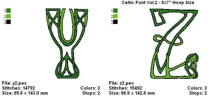 CELTIC FONT VOL