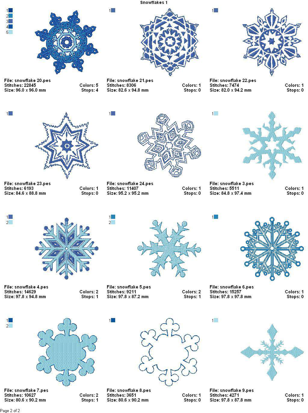 Embroidery Patterns Winter Wonderland Snowflake by SeptemberHouse